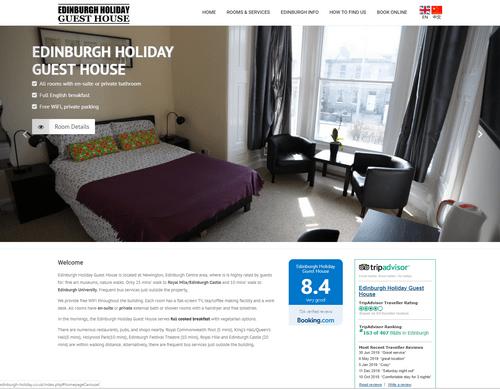 EH Web Works portfolio - Edinburgh Holiday Guest House
