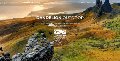 EH Web Works portfolio - Dandelion Outdoor