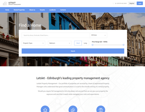 EH Web Works portfolio - Letslet Property Management